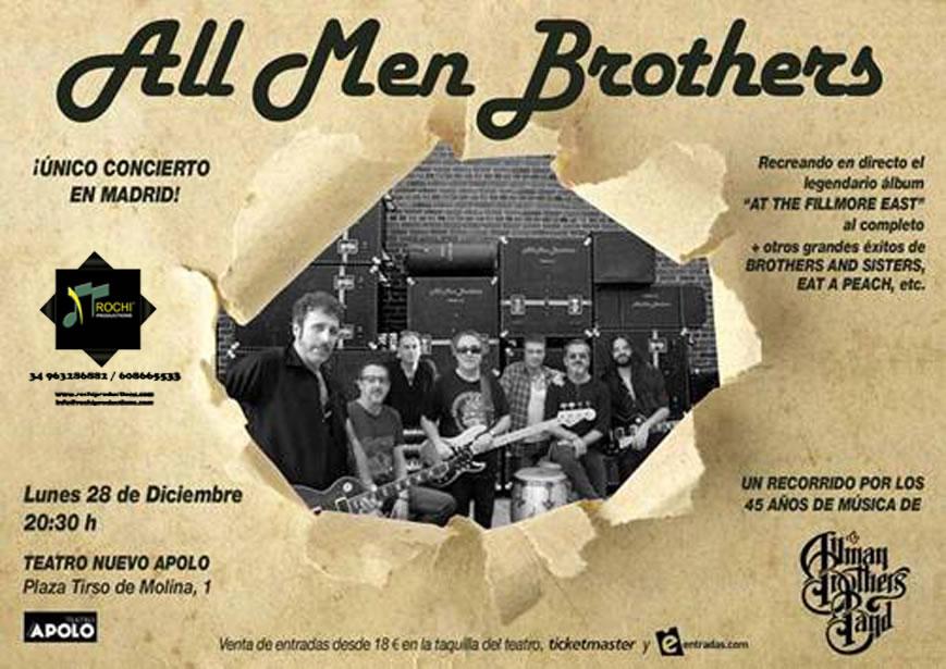 28 Diciembre – ALL MEN BROTHERS – TEATRO NUEVO APOLO – MADRID