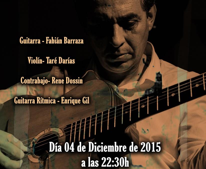 Festival de Jazz de Castellón –  FABIAN BARRAZA DJANGO'S QUARTET