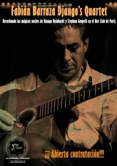 Fabian Barraza Djg´s Quartet empieza su gira de verano en Oropesa del Mar el dia 9 de Julio en la plaza de l´esglesia.