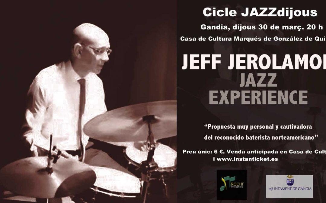 JEFF JEROLAMON JAZZ EXPERIENCE – Gandía 30 de marzo – 20 horas