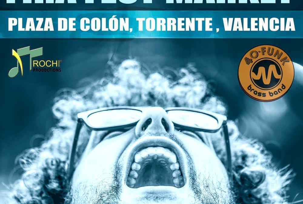Actuación 40 Funk Brass Band – Sábado 7 de Octubre a las 20:00 horas – Plaza de Colón (Torrent)