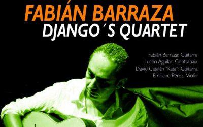 Fabian Barraza Django's Quartet deleitarán con su jazz manouche a los que acudan a la Plaza de la Merced de Cuenca