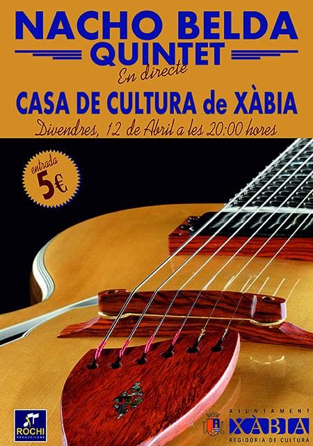 Actuació de Nacho Belda en Xabia, el 12 d'abril