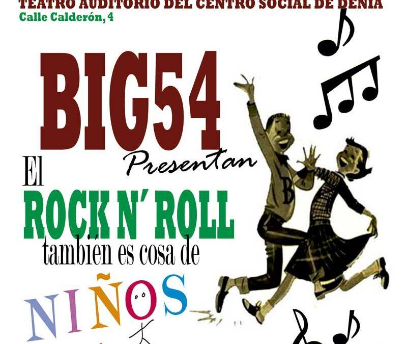 El Rock & Roll es cosa de niños ..y de padres el domingo, 10 de Julio en el Teatro Auditorio del Centro Social de Denia.